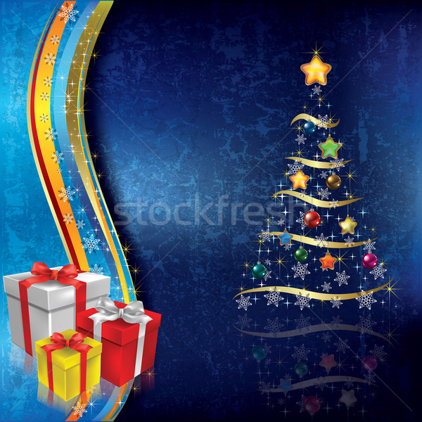 Abstract Christmas background with tree Stock photo © lem