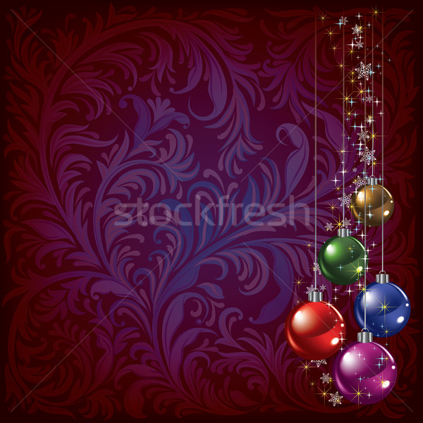 christmas background with balls Stock photo © lem