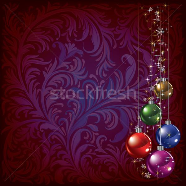 Noel renk karanlık soyut kar Stok fotoğraf © lem