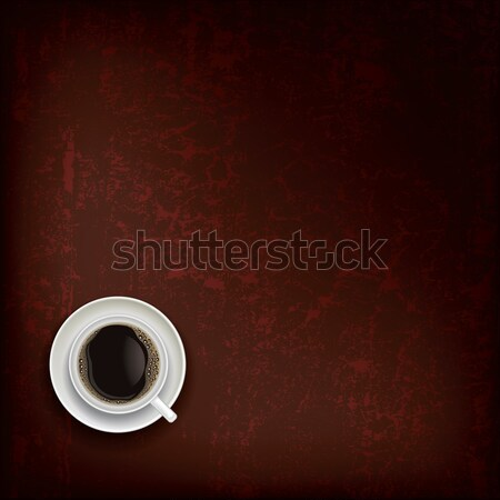 abstract grunge background with coffee cup Stock photo © lem