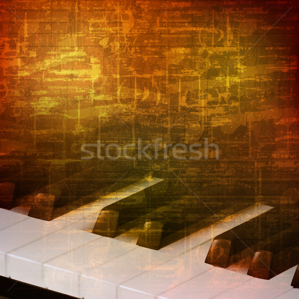 abstract grunge background with piano keys Stock photo © lem