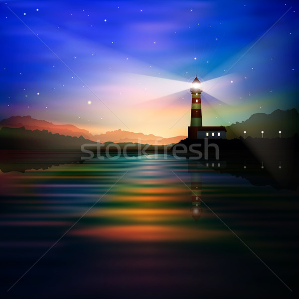 abstract background with lighthouse Stock photo © lem
