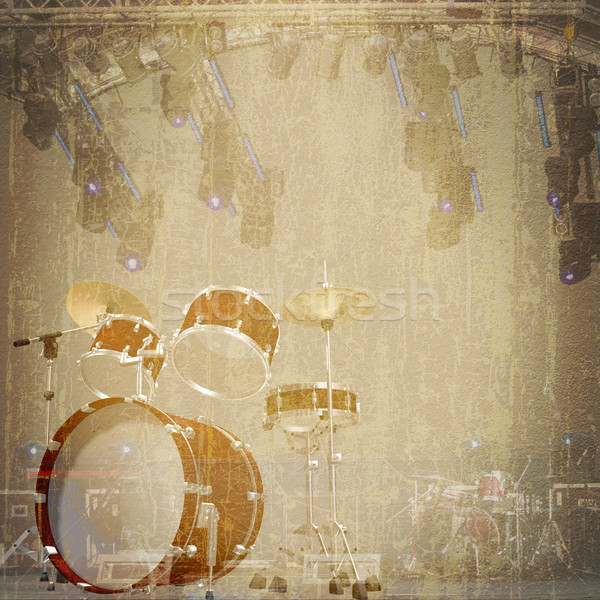 abstract musical background stage Stock photo © lem