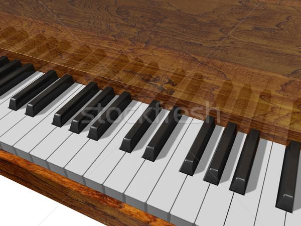 клавиши пианино музыку клавиатура образование фортепиано Сток-фото © lem
