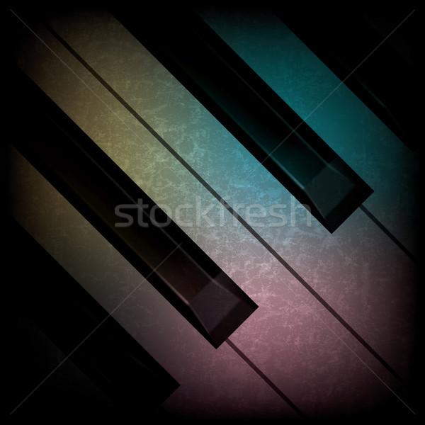 Soyut grunge müzik piyano karanlık piyano tuşları Stok fotoğraf © lem