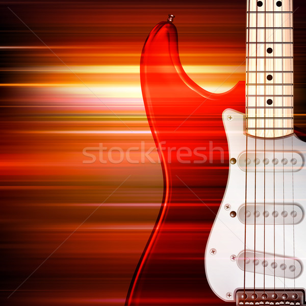 abstract grunge background with electric guitar Stock photo © lem