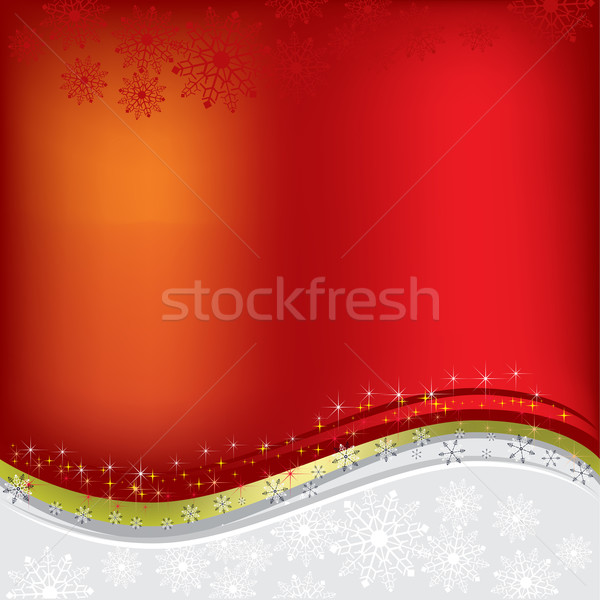 Stock photo: christmas greeting abstract red background