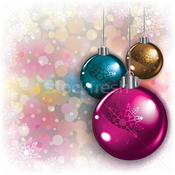 Abstract background with Christmas decorations Stock photo © lem