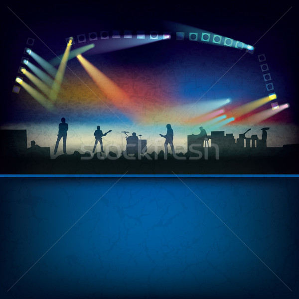 abstract background with music stage Stock photo © lem