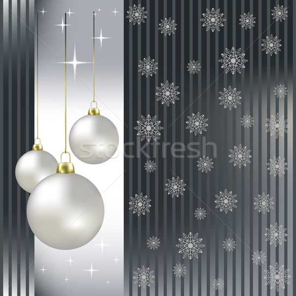 Navidad plata ordenador luz Foto stock © lem