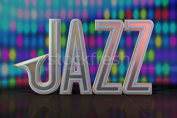 Abstract jazz musical fase muziek licht Stockfoto © lem