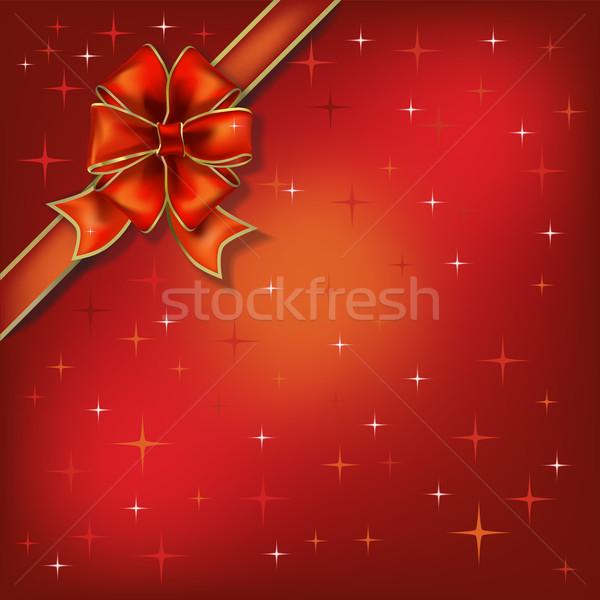 Рождества иллюстрация лук звезды компьютер бумаги Сток-фото © lem
