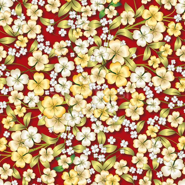 Soyut sarı süs kırmızı Stok fotoğraf © lem