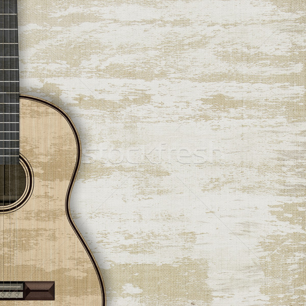 abstract musical background guitar Stock photo © lem