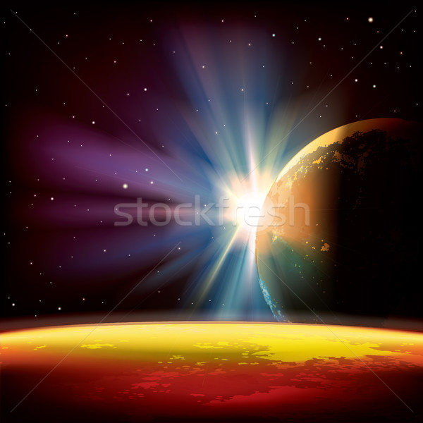 аннотация планеты звезды пространстве солнце свет Сток-фото © lem