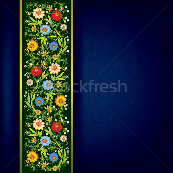 abstract grunge floral ornament with color flowers Stock photo © lem