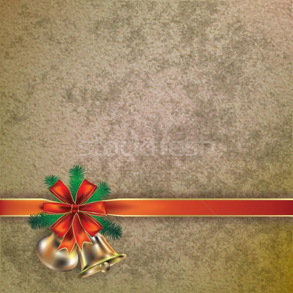 Navidad saludo resumen fondo invierno oro Foto stock © lem