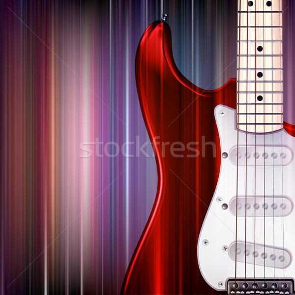 Resumen grunge guitarra eléctrica azul música fondo Foto stock © lem