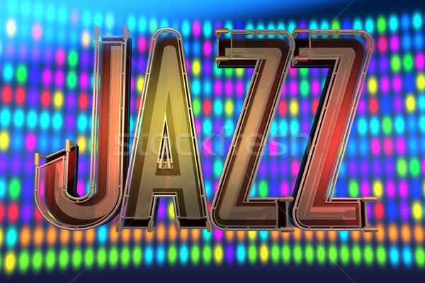 Abstrato jazz instrumentos musicais música luz metal Foto stock © lem