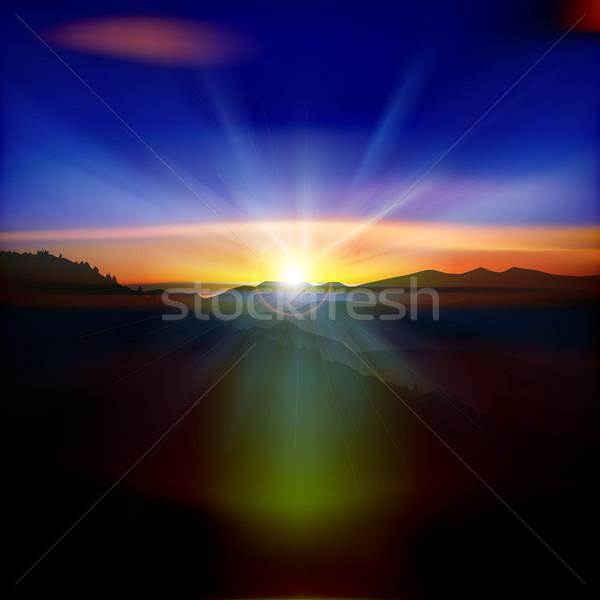 аннотация закат гор природы Восход пейзаж Сток-фото © lem
