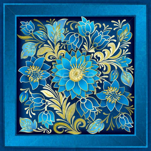 аннотация цветочный орнамент цветы Гранж Летние цветы Сток-фото © lem
