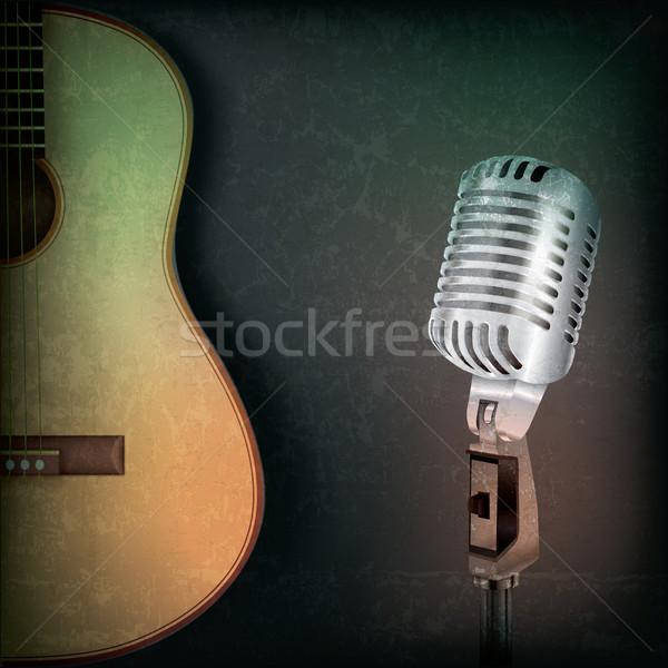 аннотация музыку ретро микрофона гитаре Гранж Сток-фото © lem