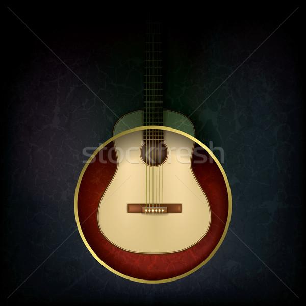 Soyut müzik akustik gitar grunge gitar ışık Stok fotoğraf © lem