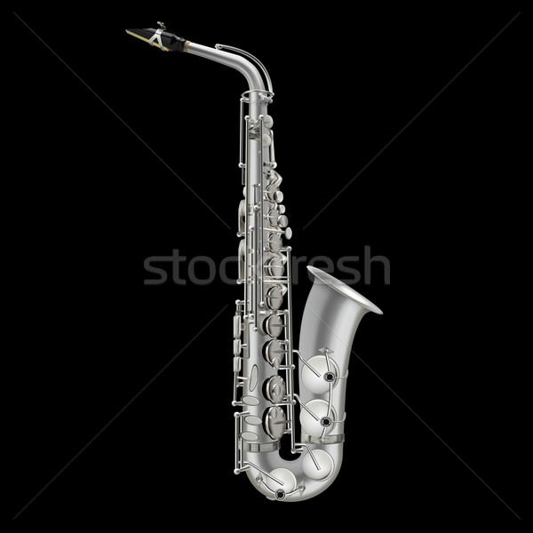 photorealistic saxophone isolated on a black background Stock photo © lem