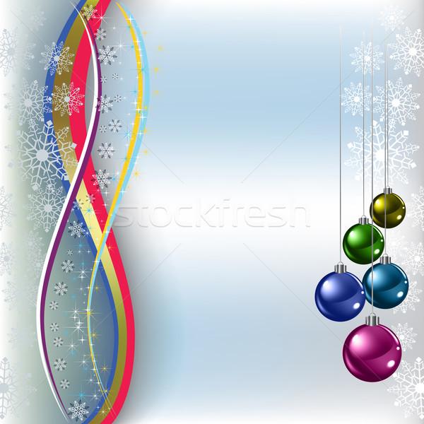 Navidad saludo azul nieve Foto stock © lem