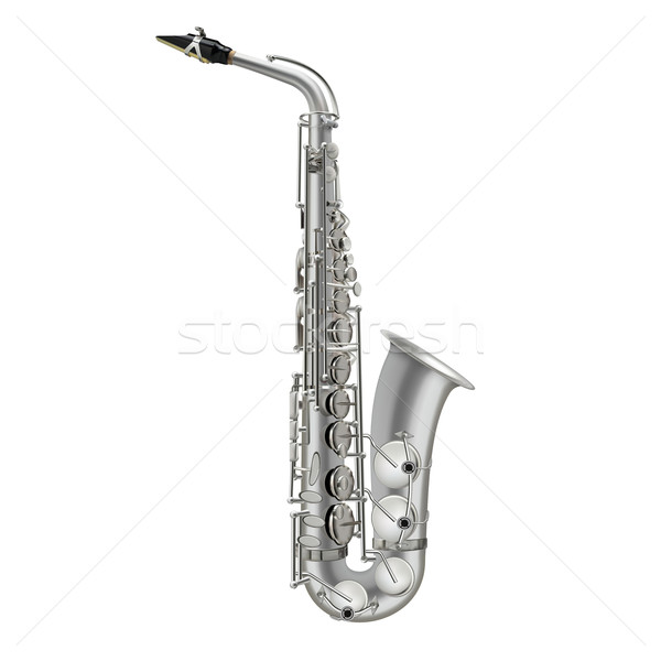 photorealistic saxophone isolated on a white background Stock photo © lem