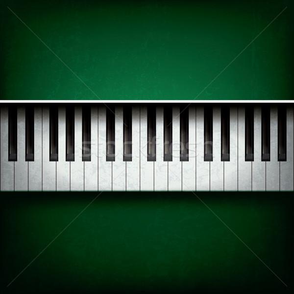 Soyut caz müzik grunge piyano yeşil Stok fotoğraf © lem