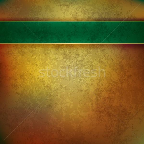 Resumen grunge vintage textura dorado verde Foto stock © lem