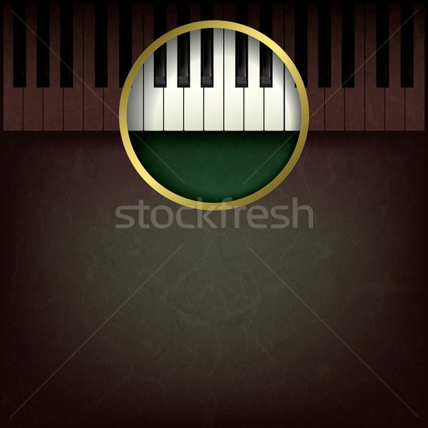 Soyut müzik grunge piyano kahverengi arka plan Stok fotoğraf © lem