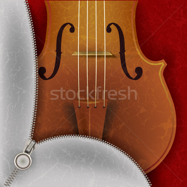 music background with violin Stock photo © lem