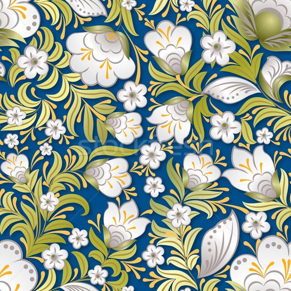 Resumen verano sin costura floral ornamento blanco Foto stock © lem