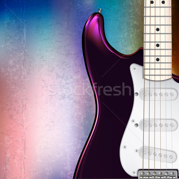 аннотация музыкальный электрической гитаре Гранж джаза рок Сток-фото © lem