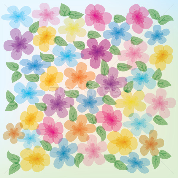 abstract floral illustration Stock photo © lem