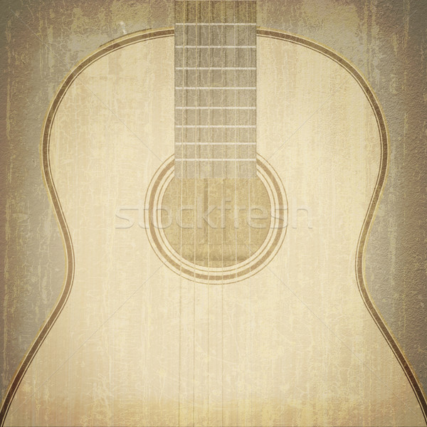 Stock photo: abstract musical background guitar