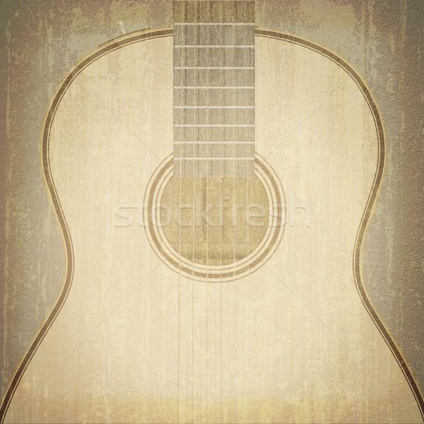 Abstract musical gitaar jazz rock muziekinstrumenten Stockfoto © lem