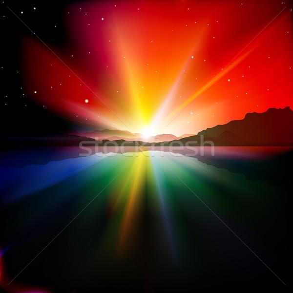 аннотация Восход гор красочный воды природы Сток-фото © lem