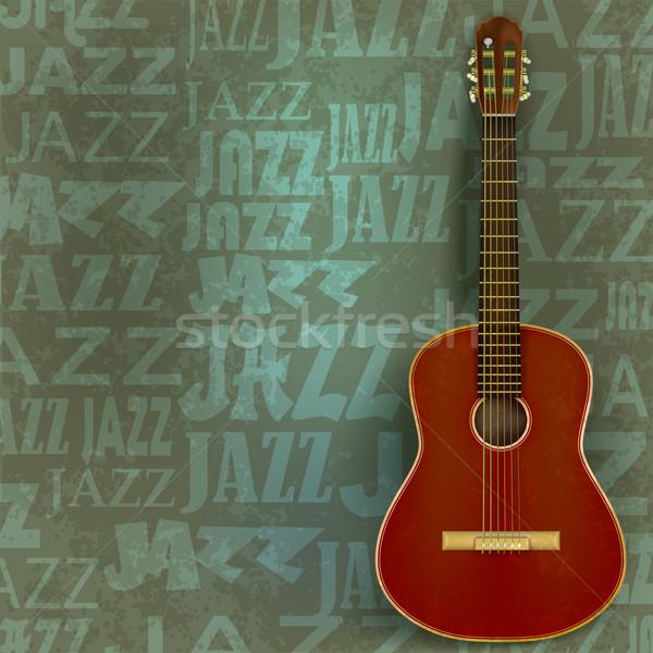 Abstrato jazz verde grunge clássico guitarra Foto stock © lem