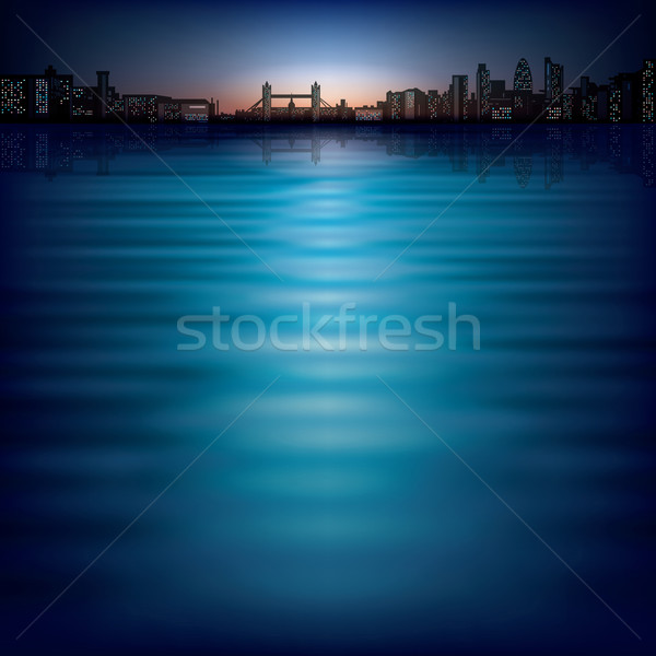 abstract background with silhouette of London Stock photo © lem