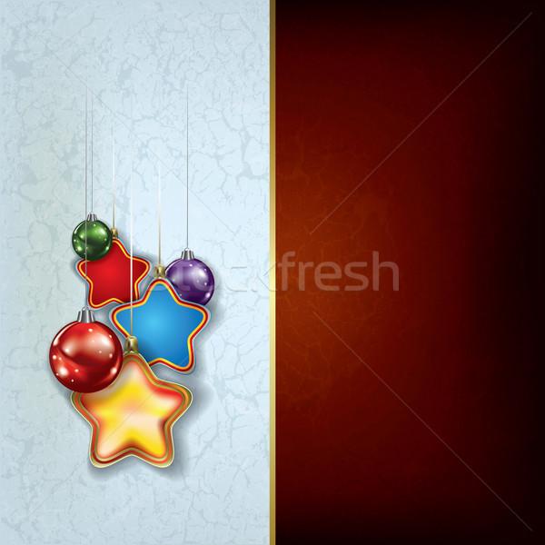 Grunge Navidad saludo estrellas resumen Foto stock © lem