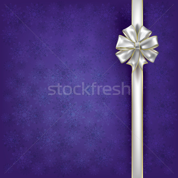 Christmas greeting with white gift ribbons Stock photo © lem