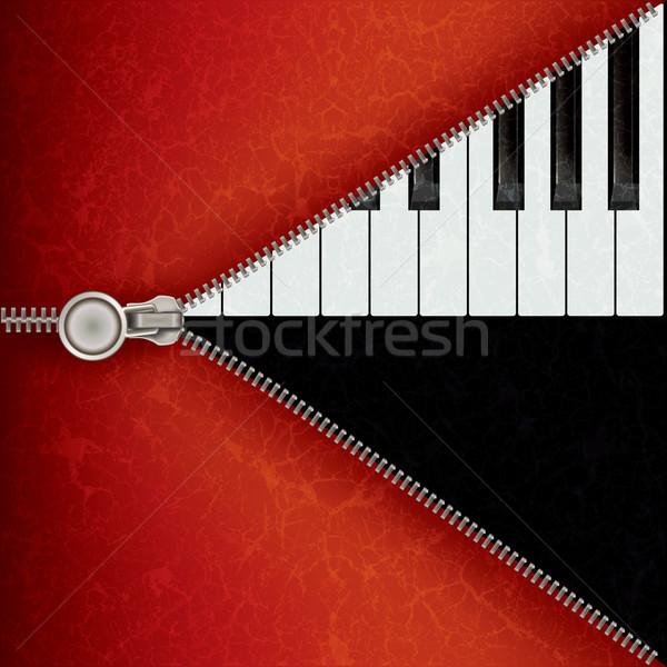Dzsessz zongora nyitva cipzár absztrakt zene Stock fotó © lem