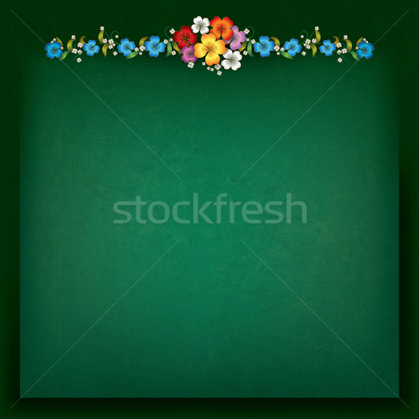 abstract background with floral composition Stock photo © lem