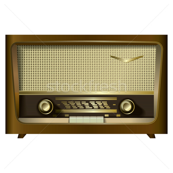 retro radio isolated on a white Stock photo © lem