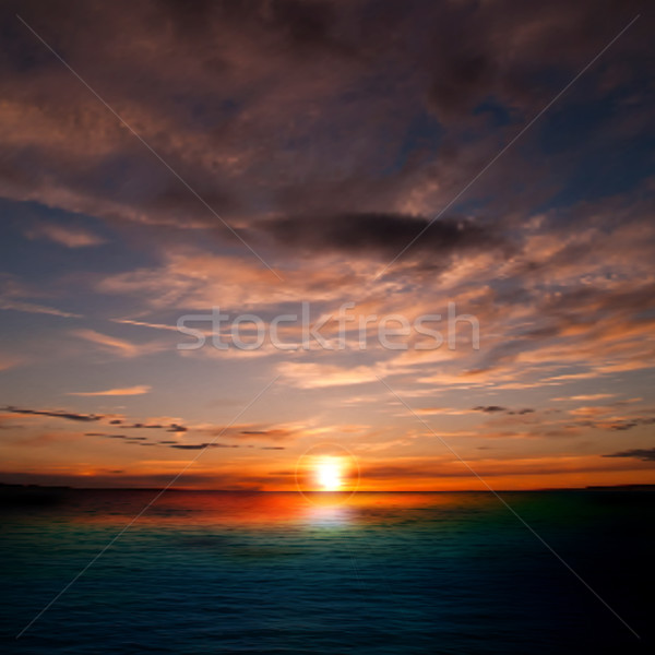 abstract nature background with sunset and clouds Stock photo © lem