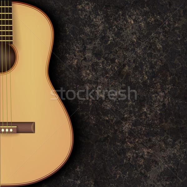 Absztrakt grunge zene gitár fekete márvány Stock fotó © lem