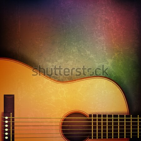 abstract grunge music background with electric guitar Stock photo © lem